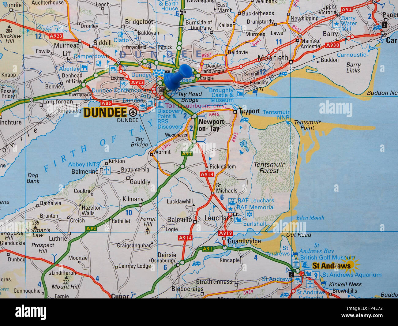 map dundee