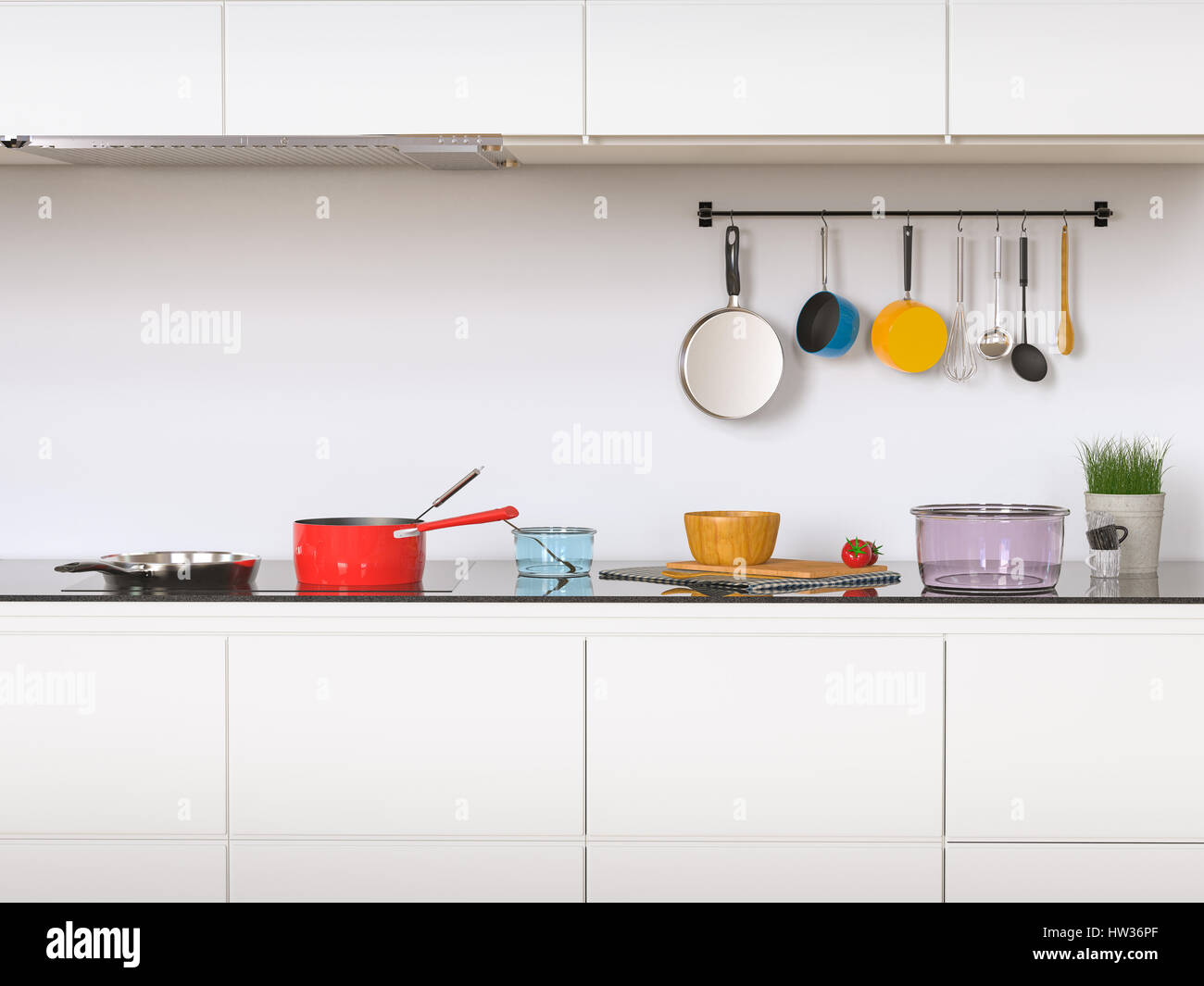 stock photo 3d rendering kitchen cabinets with kitchen utensils stock kitchen cabinets 3d rendering kitchen cabinets with kitchen utensils
