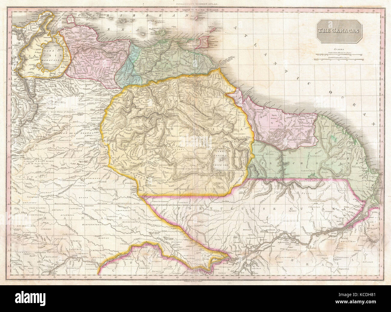 1818  Pinkerton Map of Northeastern South America  Venezuela  Guyana     1818  Pinkerton Map of Northeastern South America  Venezuela  Guyana   Surinam  John Pinkerton  1758     1826  Scottish antiquarian