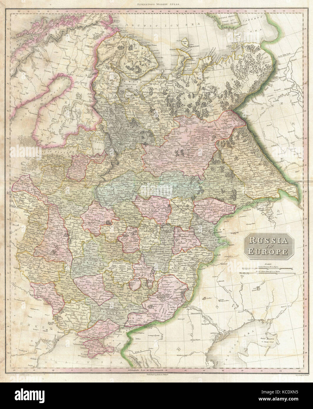 1818  Pinkerton Map of Russia in Europe  John Pinkerton  1758     1826     1818  Pinkerton Map of Russia in Europe  John Pinkerton  1758     1826   Scottish antiquarian  cartographer  UK