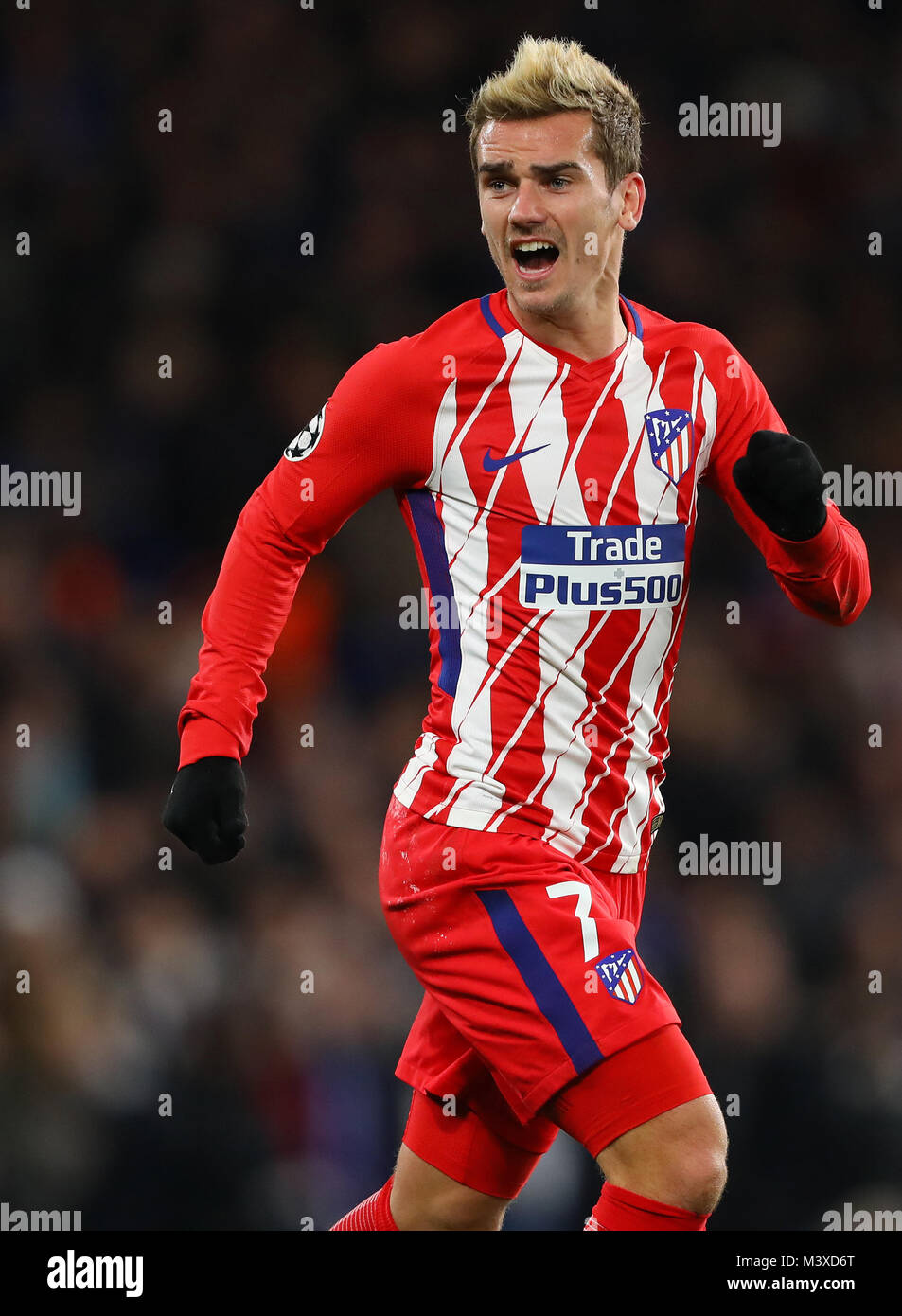 Antoine Griezmann of Atletico Madrid   Chelsea v Atletico Madrid     Antoine Griezmann of Atletico Madrid   Chelsea v Atletico Madrid  UEFA  Champions League  Stamford Bridge  London   5th December 2017
