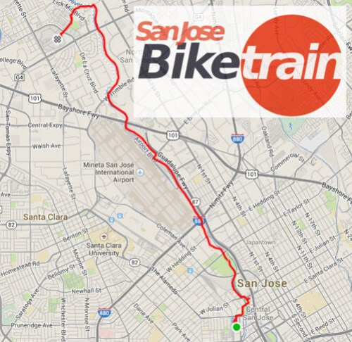 San Jose Bike Train Route