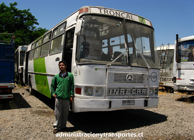 Ariel Cruz & bus Inrecar Sagitario