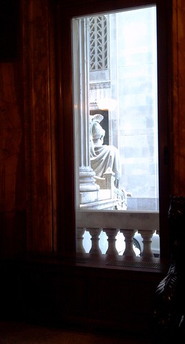 Window and statue, Appellate Division First Department Courthouse