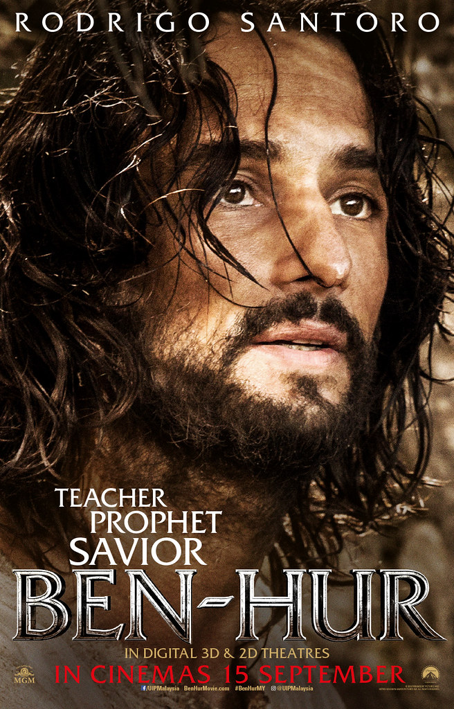 Hur-lo everyone! The BEN-HUR character posters (Messala, Judah, Esther, Ilderim, Jesus)