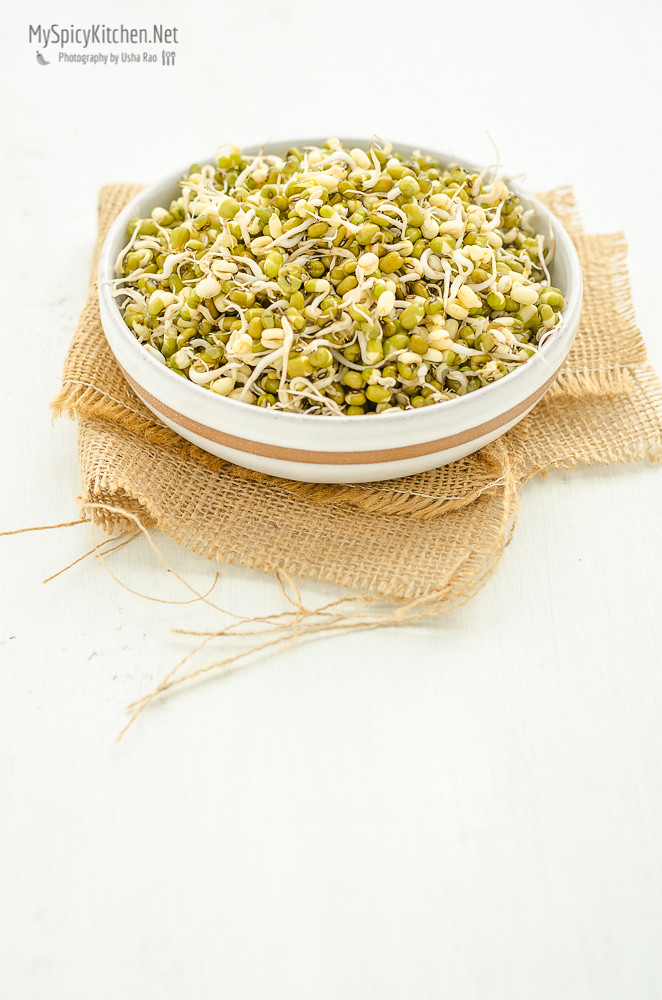 Seasoned Moong Sprouts, Blogging Marathon, Cooking Carnival, Protein Rich Food, Cooking With Protein Rich Ingredients, Cooking With Moong Dal, Moong Dal, Pesrau Pappu, Recipes with Moong, Recipes with Pesaru Pappu, Green Gram, Whole Moong, Sprouts, Moong Sprouts, Green Gram Sprouts, Homemade Sprouts,