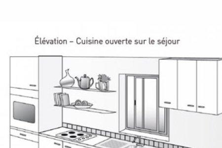 plan de cuisine lineaire ou