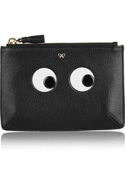 Anya HindmarchEyes small embossed textured-leather pouch
