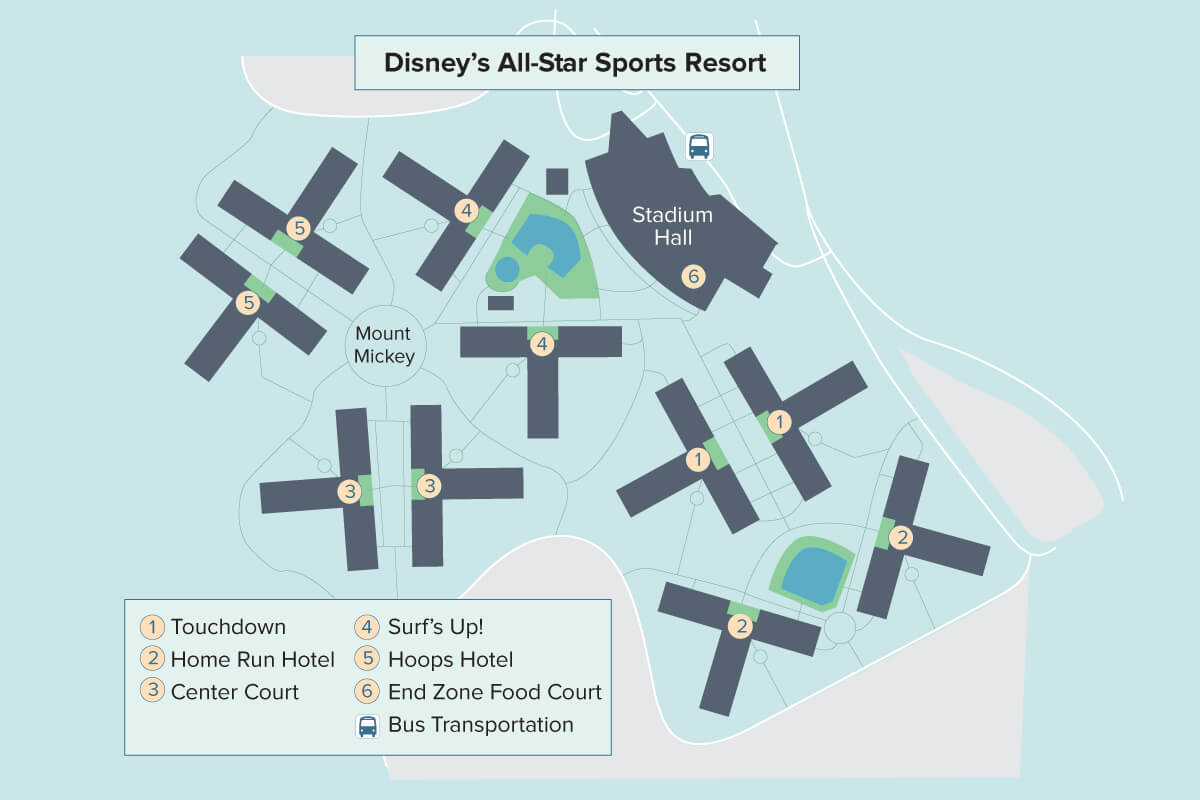 ... Map Of Disneys All Star Music Resort · Allstar Sports ...