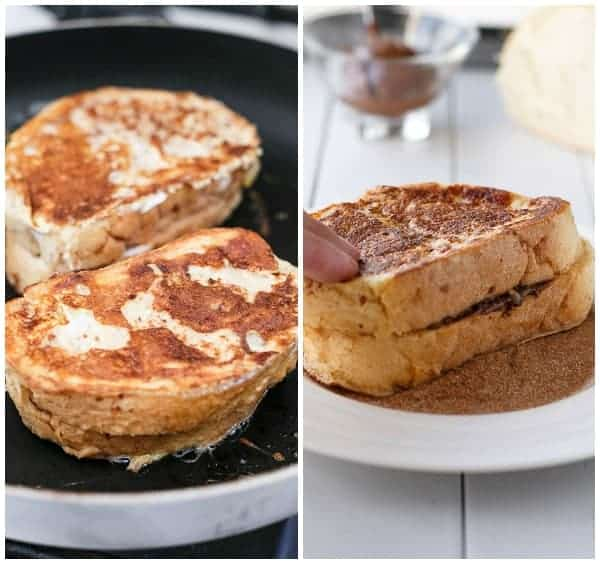 Nutella Stuffed Churro French Toast HOW_TO