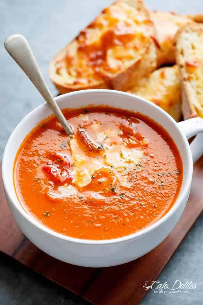 Creamy Roasted Tomato Basil Soup
