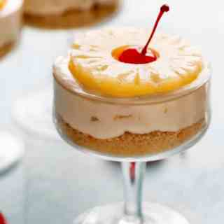 No Bake Pineapple Cheesecakes | http;//cafedelites.com