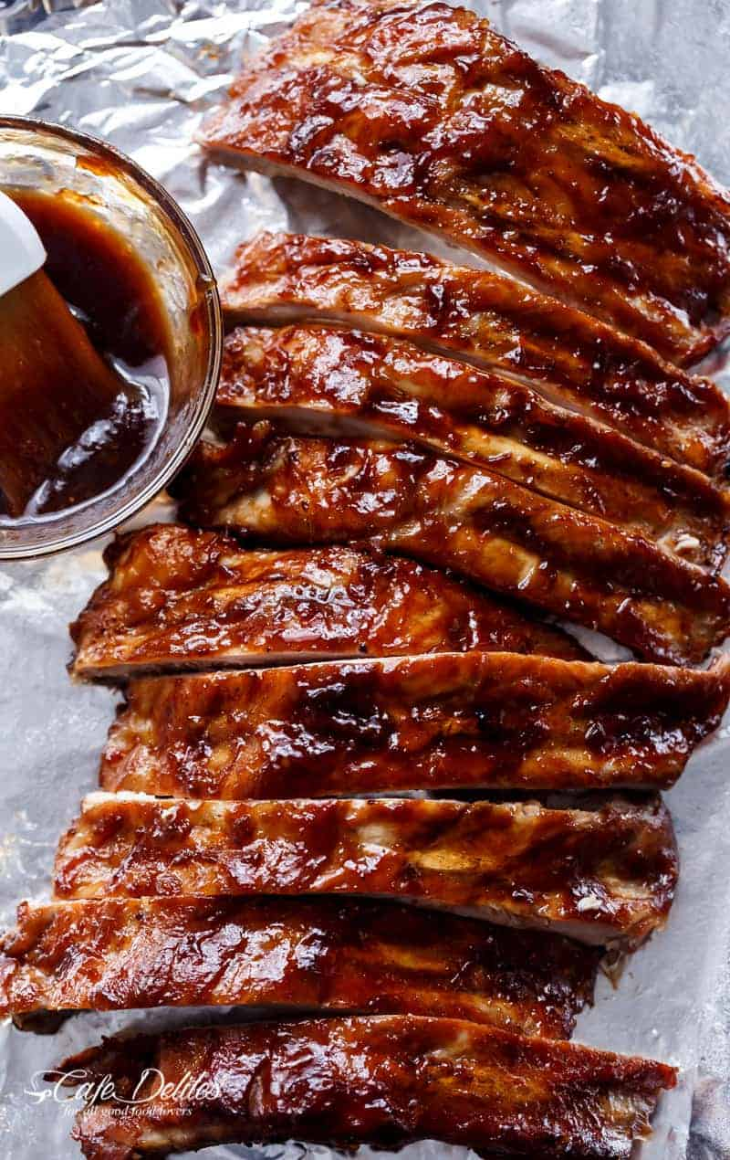 Slow Cooker Barbecue Spare Ribs - Cafe Delites