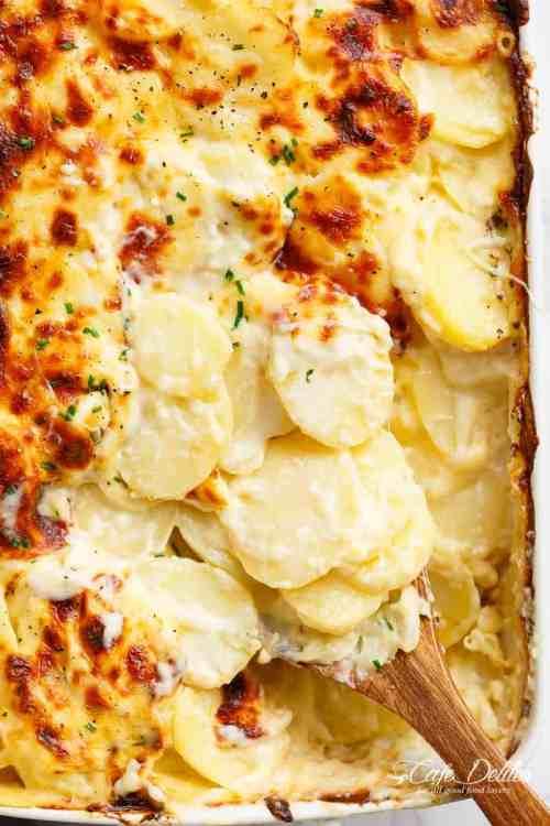 Charm Oven Garlic Parmesan Potatoes Au Gratin Scalloped Potatoes Garlic Parmesan Scalloped Potatoes Cafe Delites Garlic Parmesan Potatoes