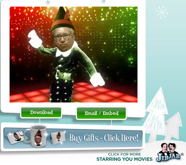 Elf Yourself Meets Jib Jab