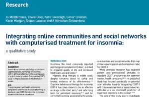 Online communities and social networking platforms for computerised therapies