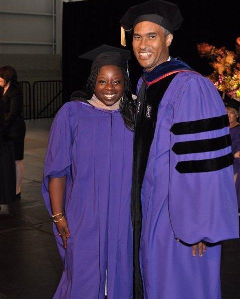 Lola Bakare and NYU Dean Henry