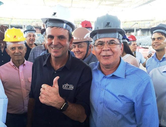 Prefiito Edardo Paes com Hildo Rocha