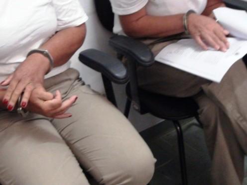 Duas das três acusadas de participação do crime falaram ao G1 (Foto: Kleber Thomaz/G1)