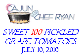 Pickled 'Sweet 100' Grape Tomatoes Label