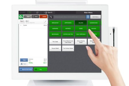 restaurant pos touch and swipe