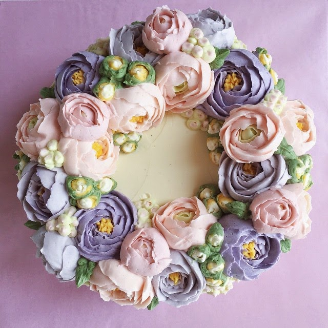Buttercream Flower Wreath Cakes Cake Style