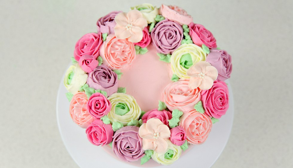 flower wreath cake 2.1