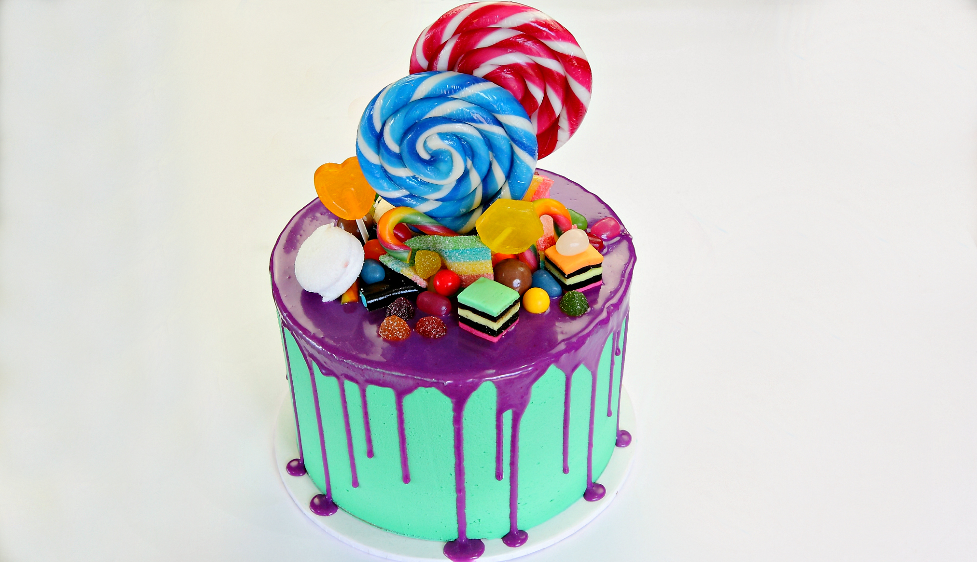 Candyland Drip Birthday Cake - Cake Style