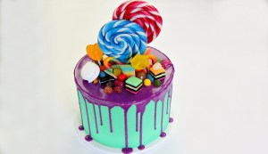 Candyland Drip Birthday Cake