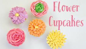 Swiss Meringue Flower Cupcakes