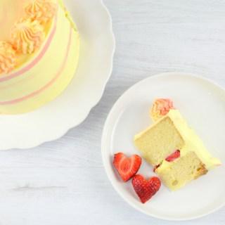 Lemon strawberry cake recipe