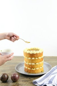 Vanilla Bean and Passionfruit Cake