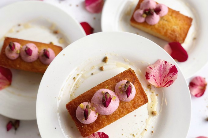 Honey rosewater cakes
