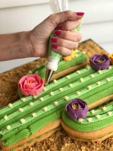 Cactus Cookie Cake