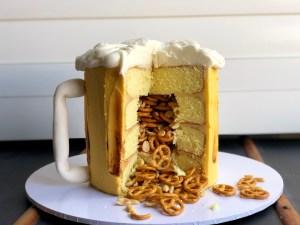 Beer and Bar Snacks Cake