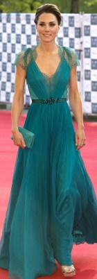 Kate Middleton - Long Green Gown