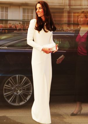 Kate Middleton - Long White Dress