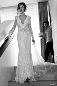 Long-sleeve Lihi Hod Wedding Dress