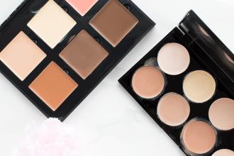 Drugstore vs High End Cream Contour Palette comparing the Anastasia Beverly Hills Cream Contour Kit and Makeup Revolution Ultra Cream Contour Palette