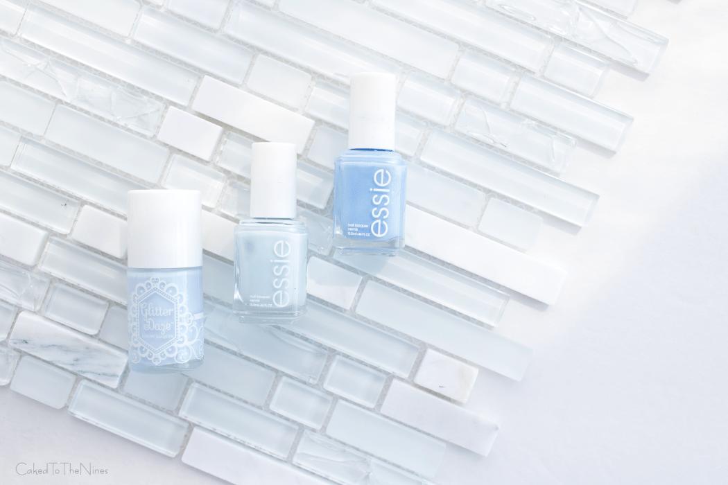 best blue nail polish colors, pastel blue nail polish