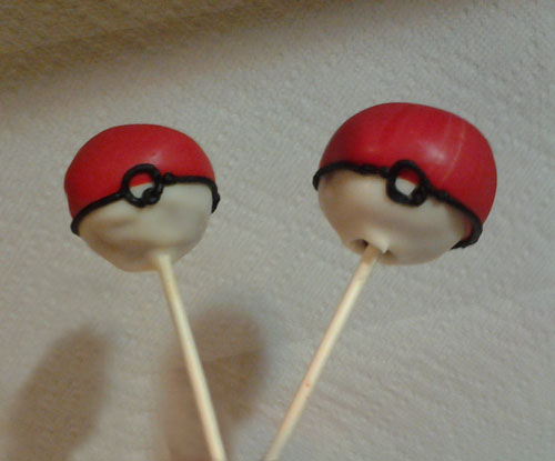 pokeball cake pops the cake is not a lie