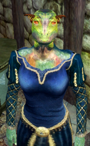 Very Green in color, and even with the addition of boobies, still very cool and reptilian.