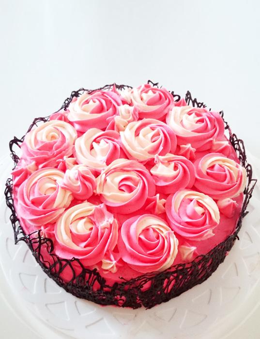 Rose cake - rostårta