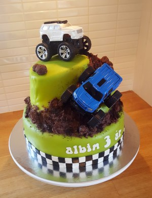 Monster truck-tårtan