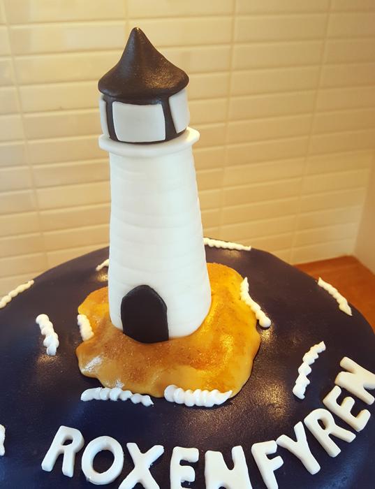 Lighthouse cake - fyrtårta