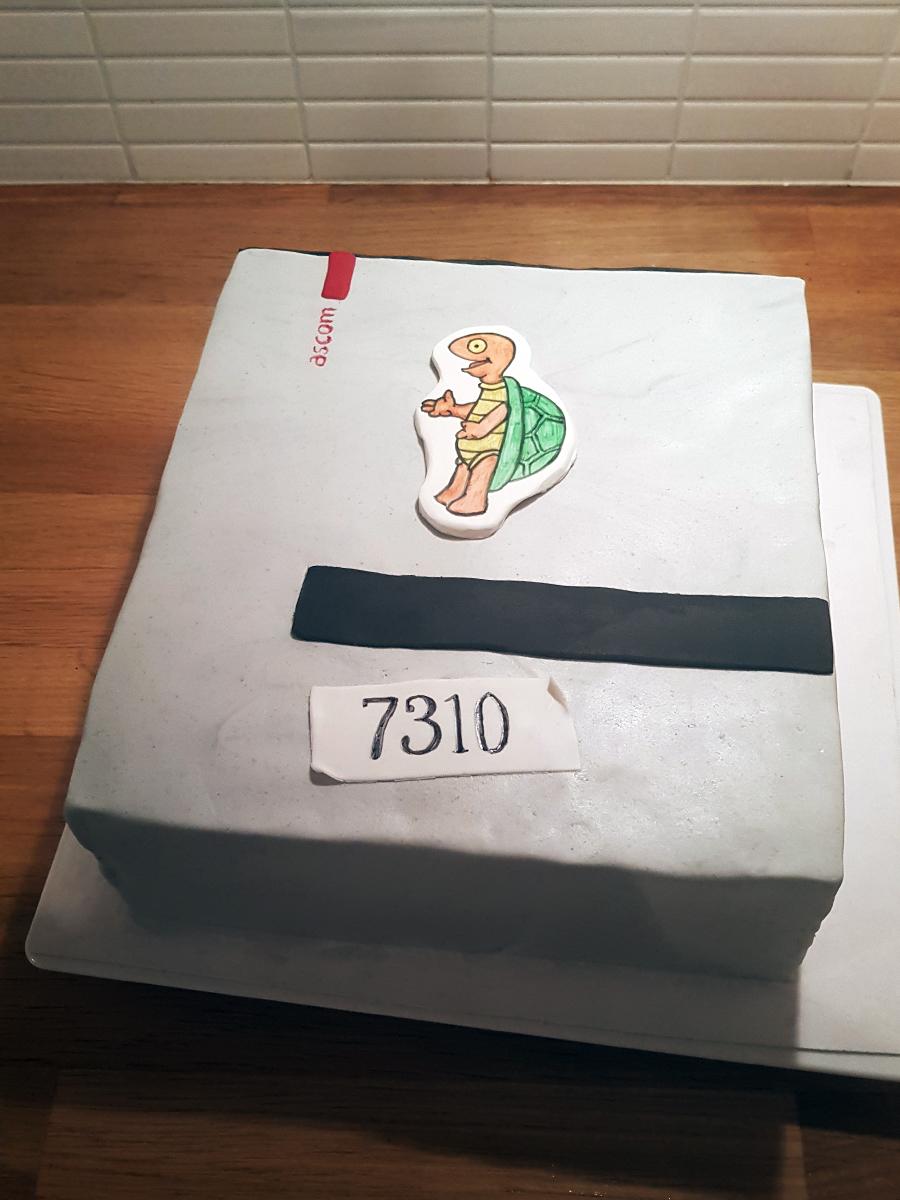 Beeper cake for a doctor - sökartårta till en doktor