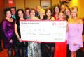 CERC HOLDS ANNUAL GALA It was an elegant scene at the Royal Ambassador Friday night as the Caledon East Revitalization Committee held their seventh annual Gala. The committee received lots of support for their effort, including from the Scotiabank branches in Bolton, Orangeville and Brampton. Representatives were on hand with this contribution for $5,000. Seen here are committee members Cheryl Robb; Chris Merkley; Adriana Roche; Jacqui Viaene; Mollie Cavan; Frank Macellaio, Sharon Savini and Rosa Evangelista of Scotiabank; Andrea Prieur; Terri Boorne; Pete Paterson, Ann Currie and Sherrie Kirkpatrick. Photo by Bill Rea