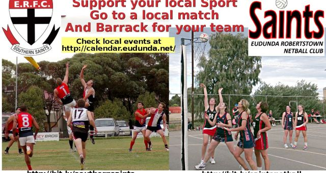 Local Saints Football & Netball Sport Banner 2016