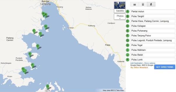 peta pulau pahawang