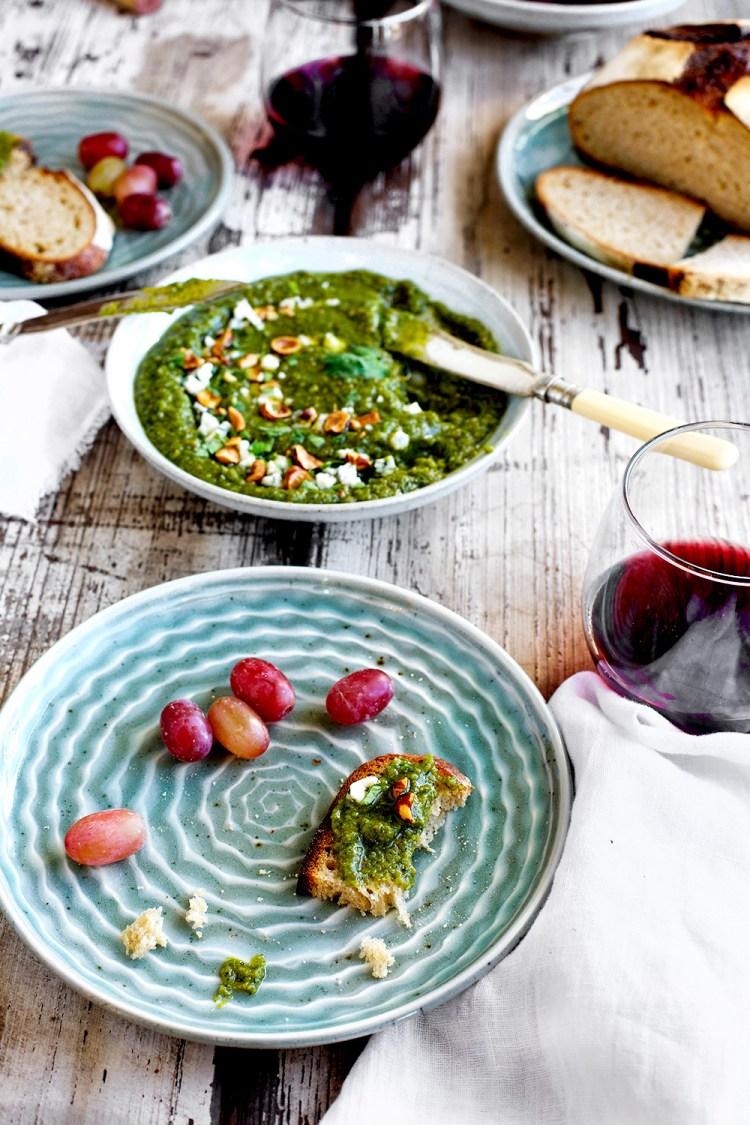 Gorgonzola Cilantro Pesto